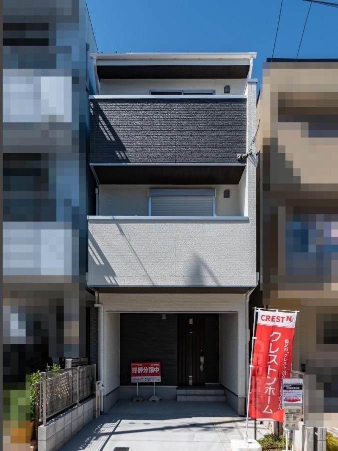 外観:~CREST'N HOME 中村高校東の家~ ご見学は「30分だけ」「仕事帰りの時間帯に」等、ご希望に合わせてご案内。住宅ローンや建物の性能など、経験豊富なスタッフがイチからご説明致します!